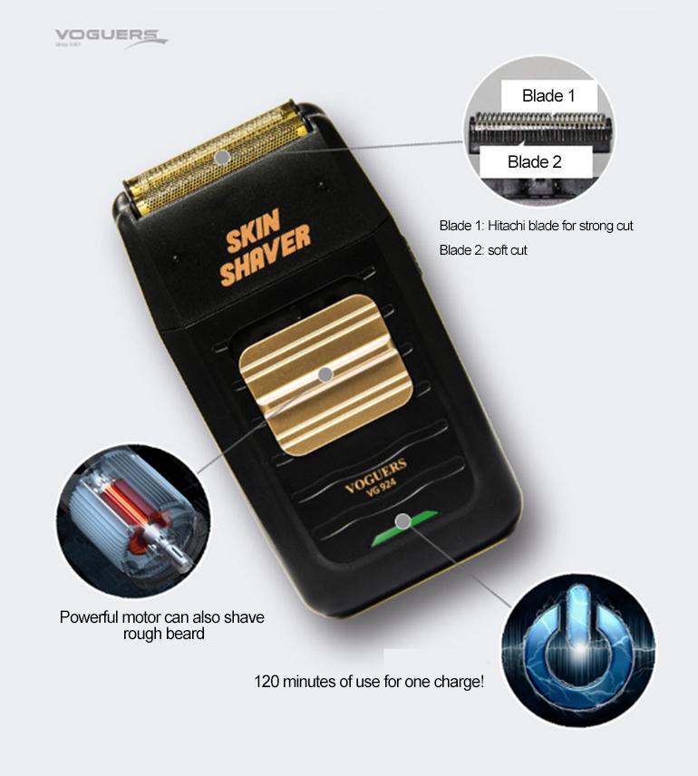 Voguers Electric Skin Shaver VG924 Super Close Cut Hitachi